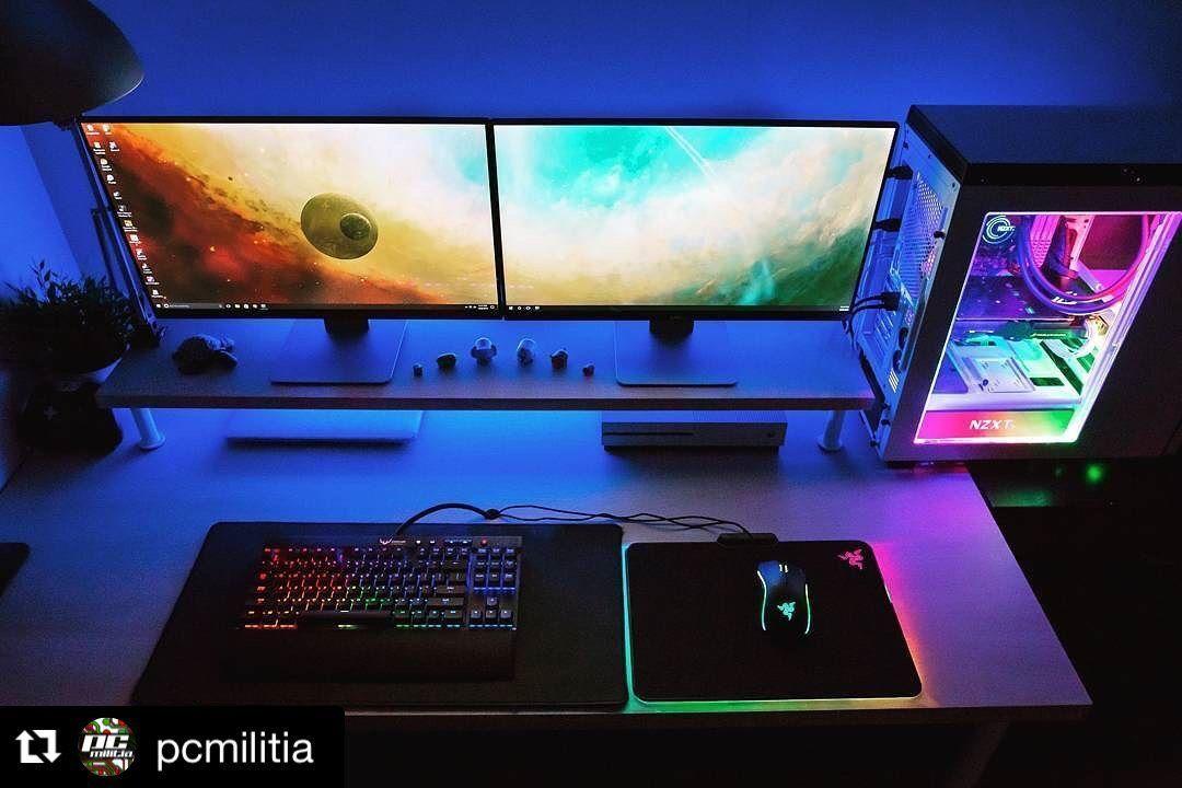 Epingle Par Karysma Czarina Sur Game Stream Setup En 2020 Bureau De Jeu Salles De Jeux Videos Configuration De Jeu