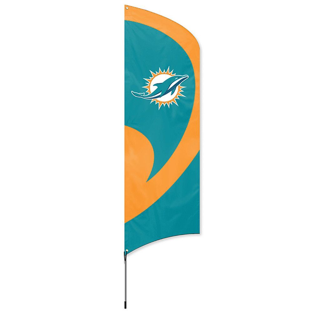 Miami dolphins nfl applique embroidered tall team flag