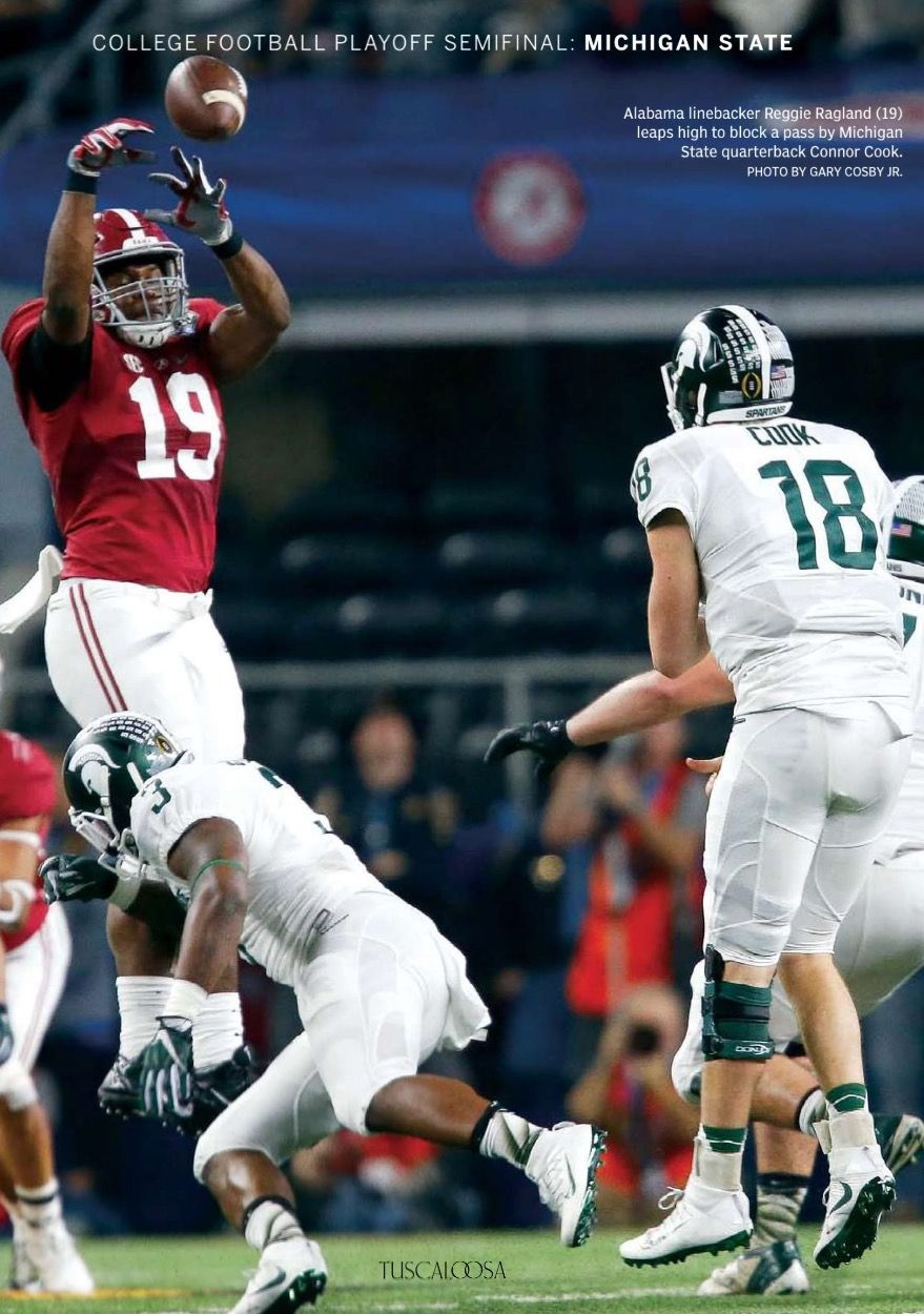 Reggie Ragland blocks a pass from Connor Cook in the Semifinal Playoff game Cotton Bowl.
