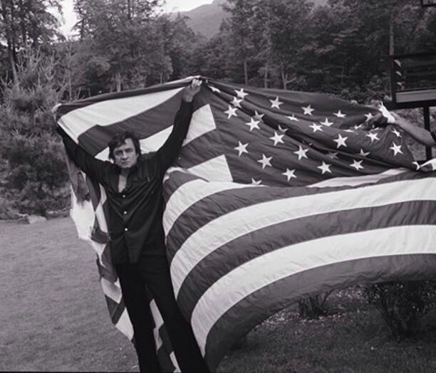 "Johnny Cash for his album ""Drive On"" which was dedicated to the Veterans of the Vietnam War. What a Patriot he was."