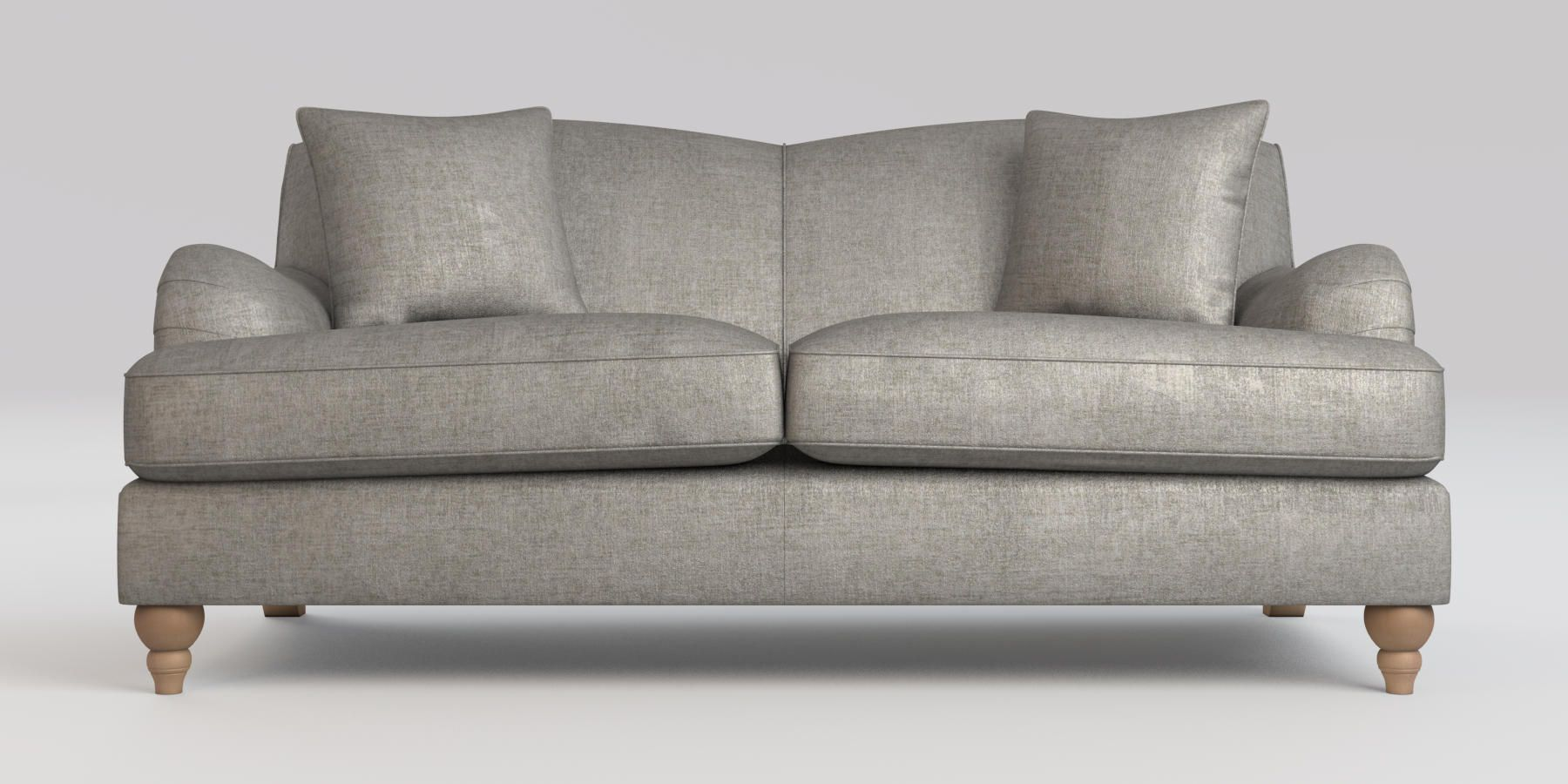 Buy Ophelia Fixed Back Medium Sofa (3 Seats) Sumptuous Velour Mid ...