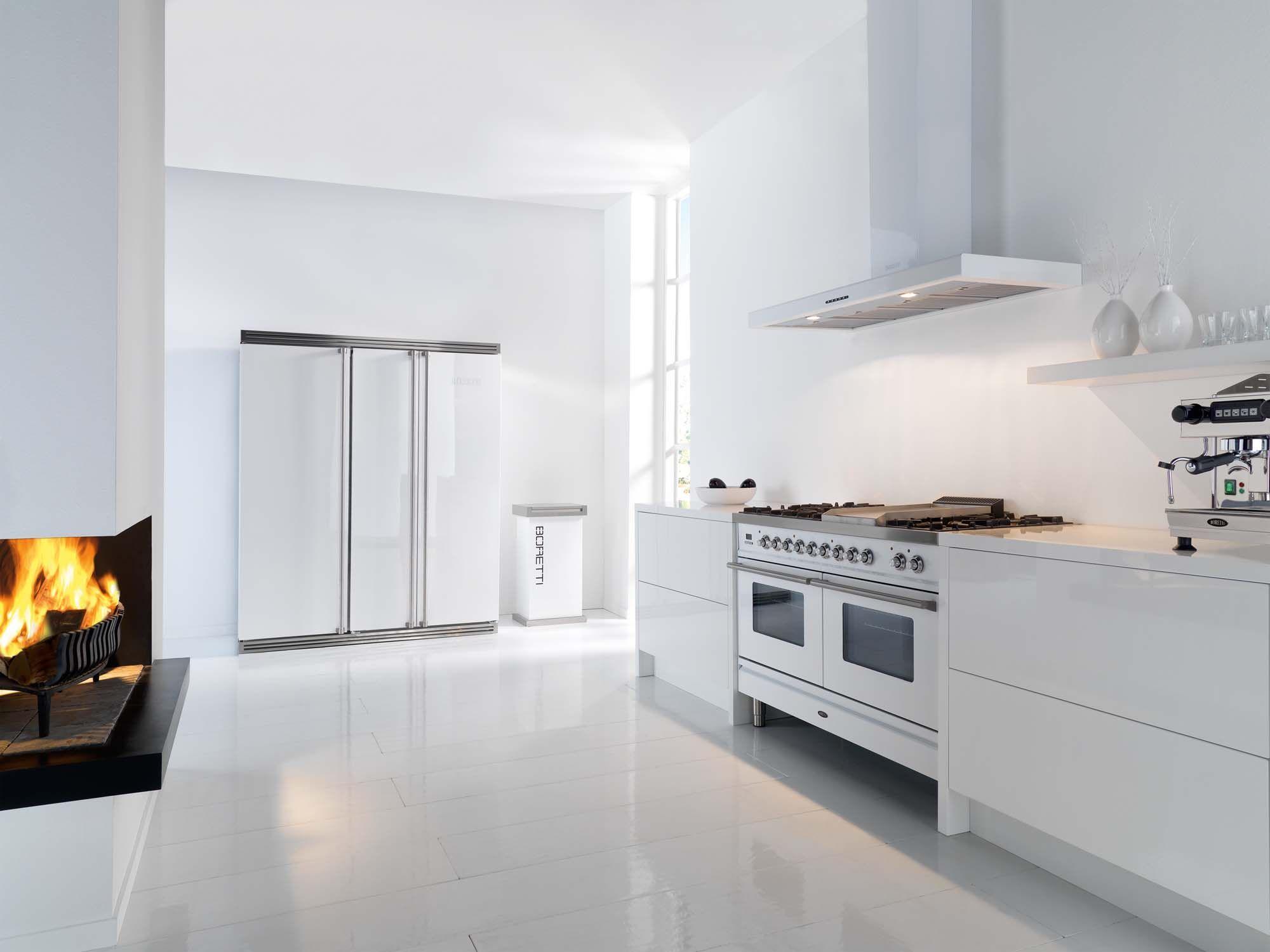 Boretti fornuis met ovens cm breed uitgevoerd in de kleur