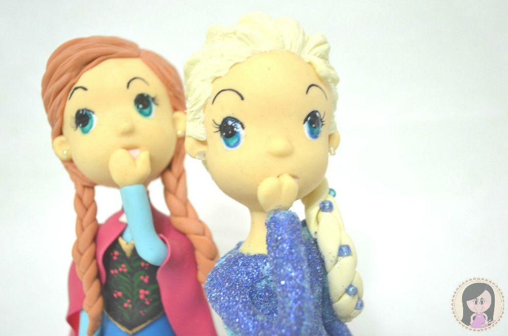 Topo de Bolo Personalizado Anna  e Elsa - Frozen
