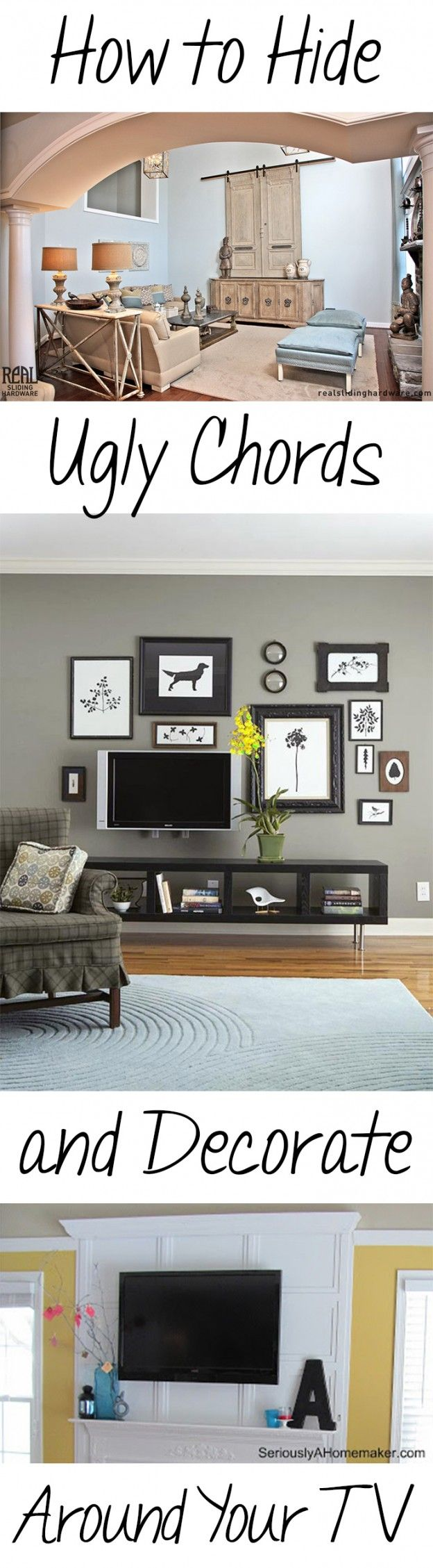 Hide the tv in a collage wall | For the Home | Pinterest
