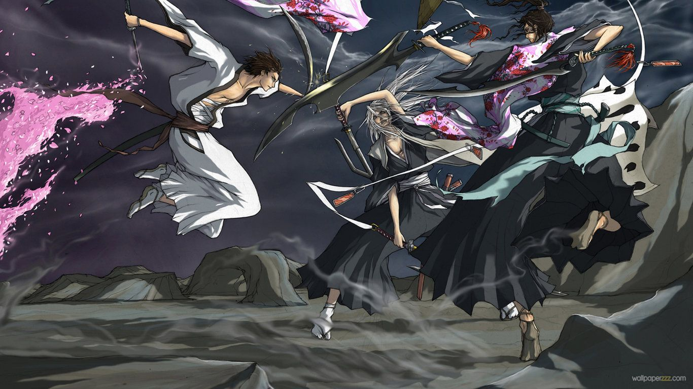 Wallpapers Bleach Monster Hunter Hd Anime Px 1366x768