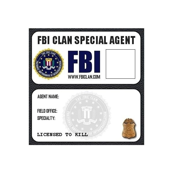 Fbi badge liked on polyvore featuring supernatural for Spy id card template