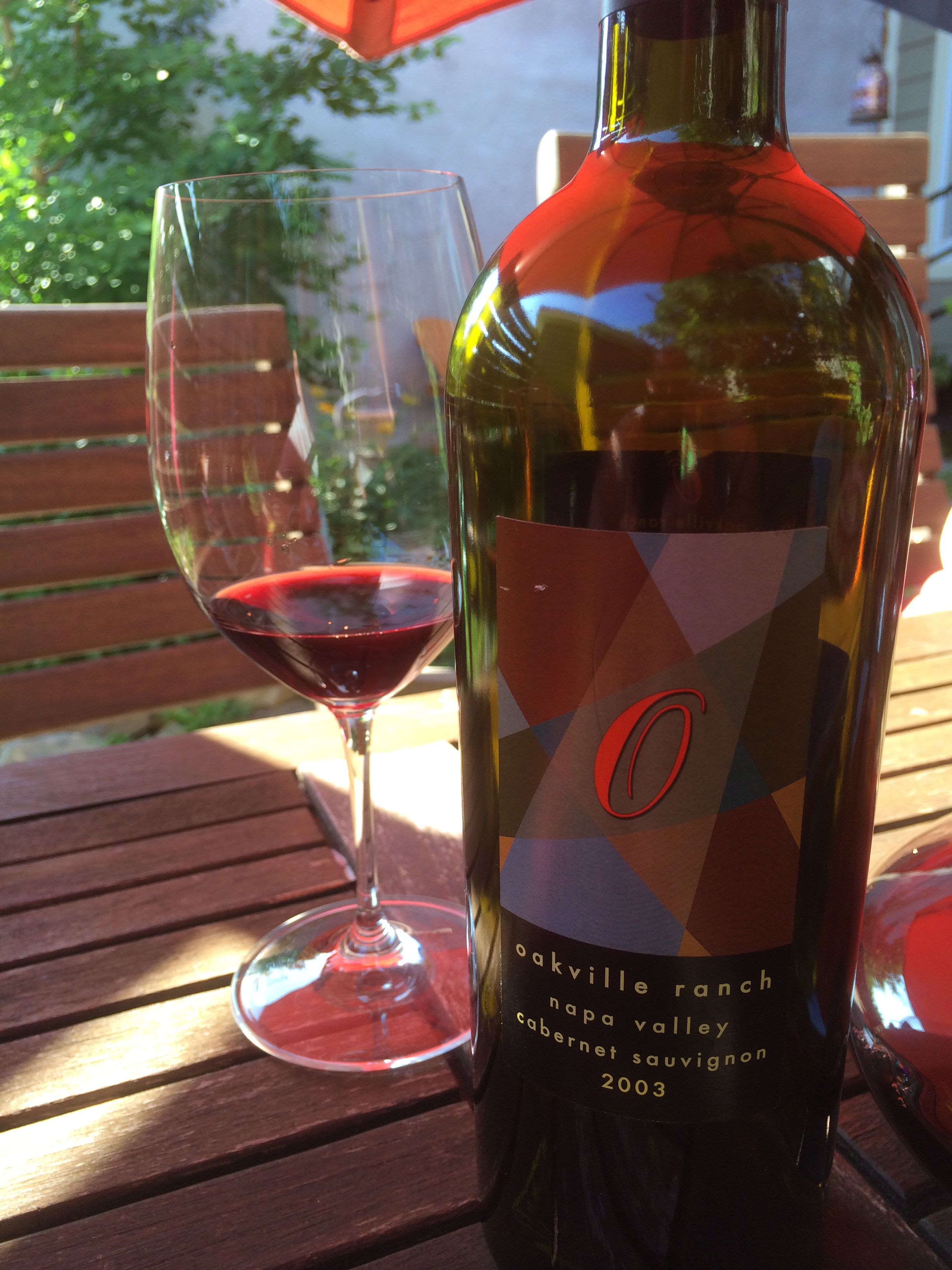 Oakville Ranch Okanagan Valley 2003 Wine Wine Glasses Ranch
