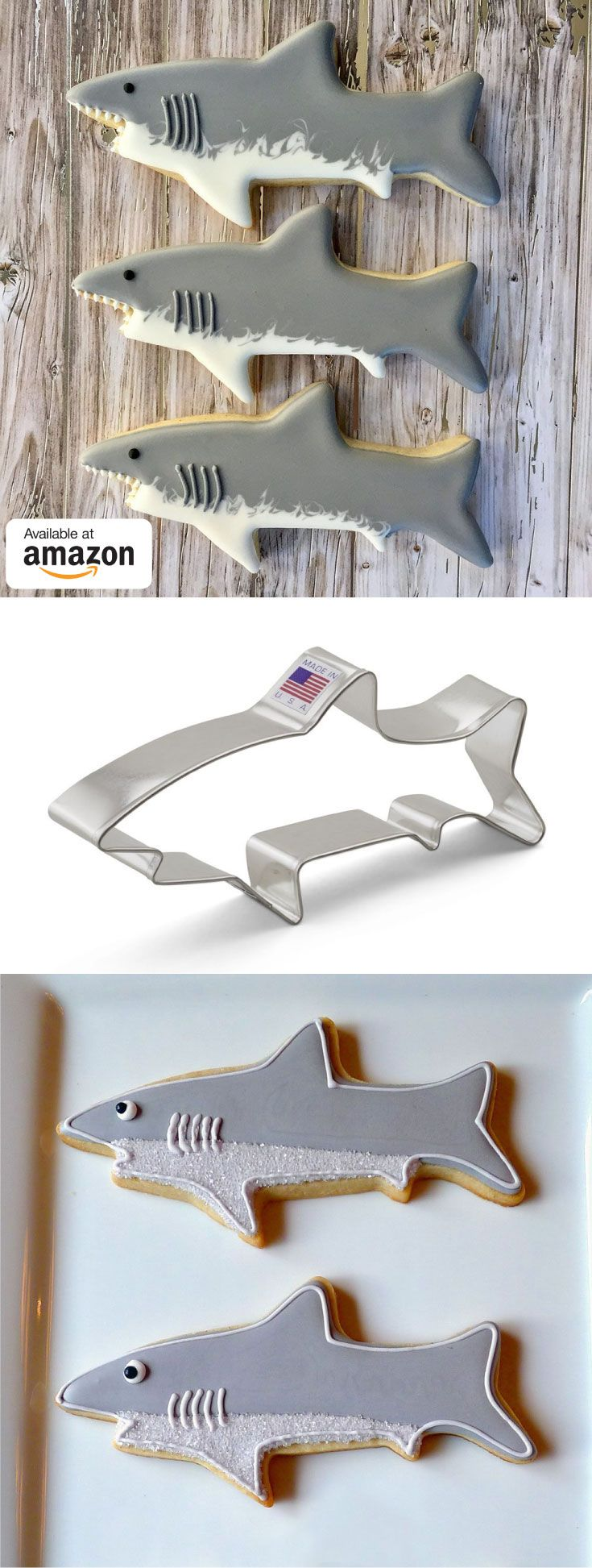 Shark cookie cutter perfect for shark week! These are Prime