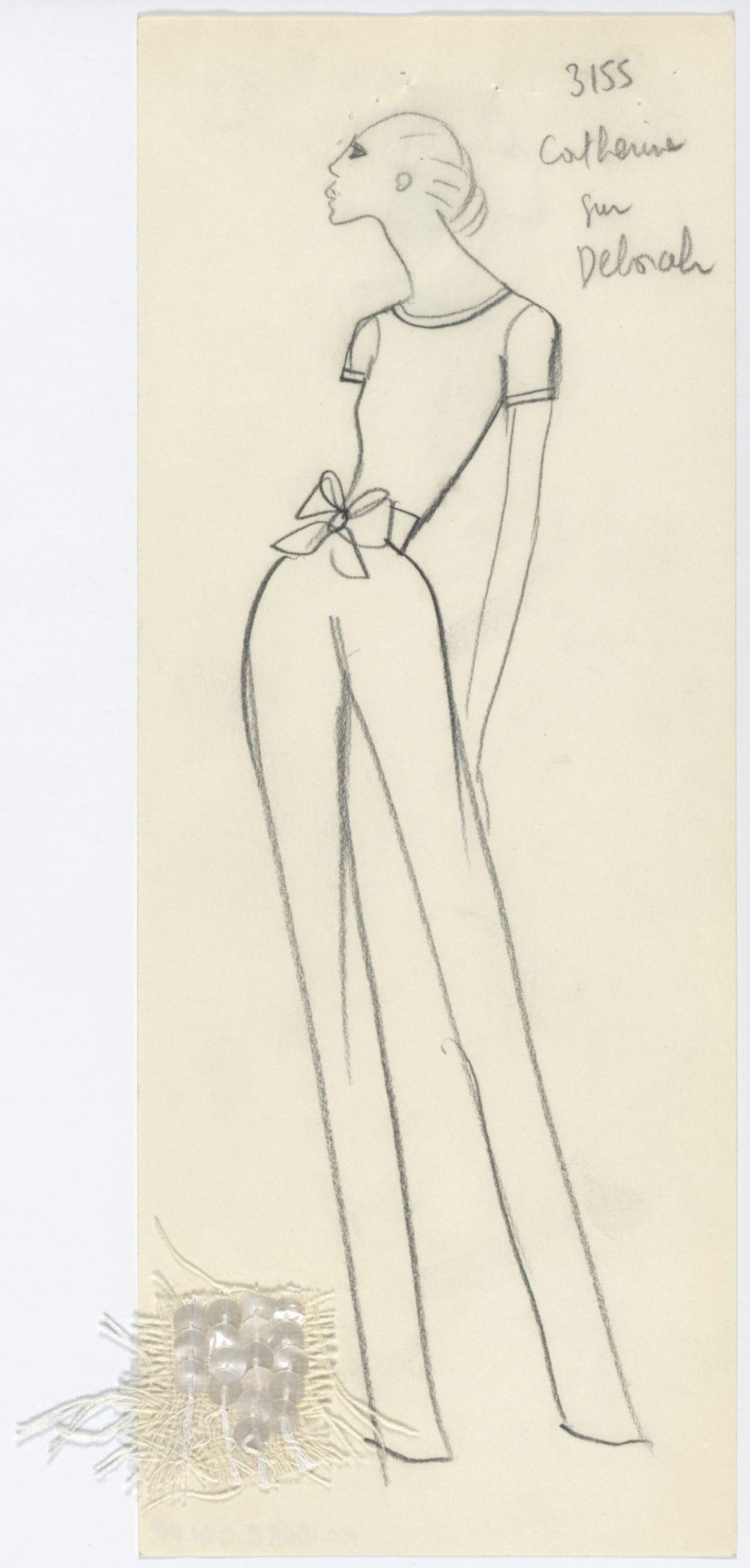 46cde196094 Yves Saint Laurent sketch of a jumpsuit. Spring-summer 1968 haute couture  collection., © Musée Yves Saint Laurent Paris