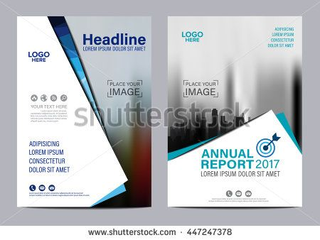 Blue Brochure Layout Magazine Flyer Modern Design Template Annual