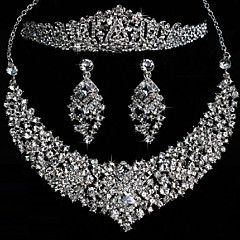 Elegant Alloy With Rhinestone Wedding Jewelry Set (Including... – USD $ 53.99
