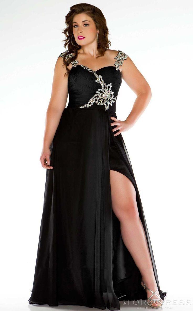 fotos de vestidos de noche para gorditas negro | bello | Pinterest ...