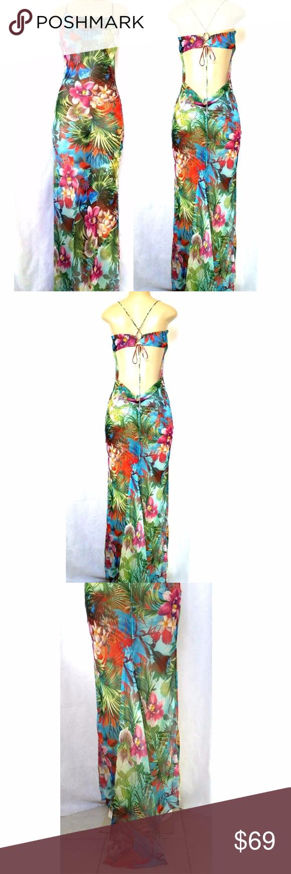 Victoria Secret Maxi Dress Sheer Tropical Cover Up Victoria S Secret Maxi Dress Cover Up An Open Back With Twisted St Sheer Dress Dresses Maxi Dress Coverup [ 1740 x 580 Pixel ]