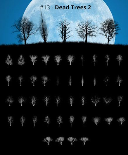 Tree Silhouettes vol.13 - Dead Trees 2 by Horhew   Gimp brushes ...