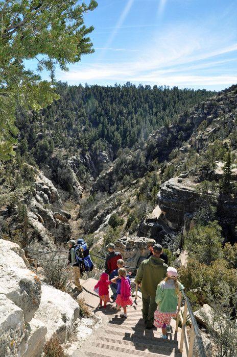 Visiting Walnut Canyon National Monument Near Flagstaff Arizona