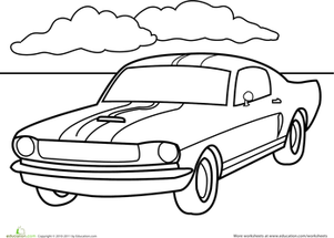 Coloring Pictures Of Mustang Cars