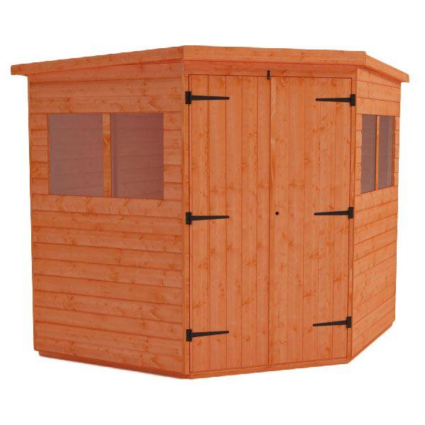 corner shed wooden corner garden sheds