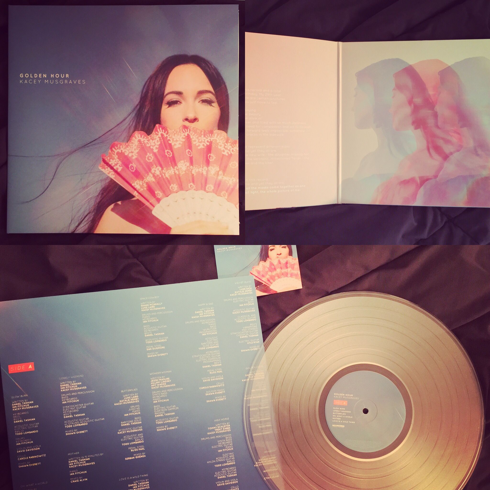 Kacey Musgraves Golden Hours Her Latest Release Beautifully Done On Clear Vinyl With Gatefold Cover An Kacey Musgraves Vinyl Kacey Musgraves Happy Hippie
