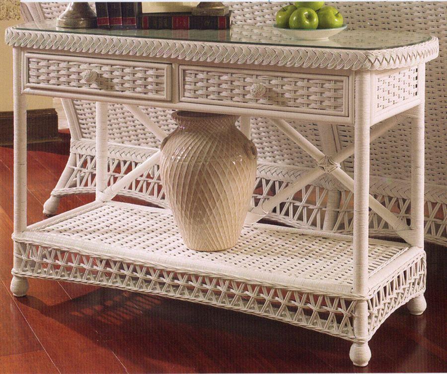Swell White Wicker Console Table Furniture Dressing Room Decor Uwap Interior Chair Design Uwaporg