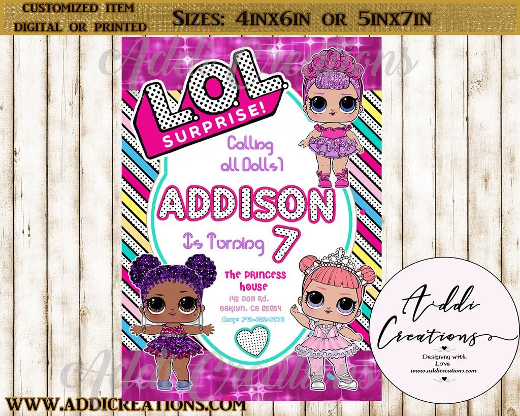 Lol Surprise Invitations Customized Item Birthday