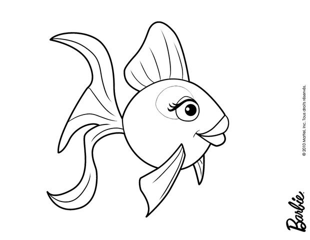 Barbie in a mermaid tale coloring pages beautiful colored fish ...