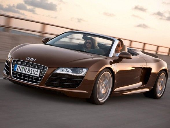 Superb This Is The Sypder Version Of The Audi R8, Not Sure If I Like The  Convertible Part Of This Car, But The Brown Paint With Black/silver Accent  Gives This One ...