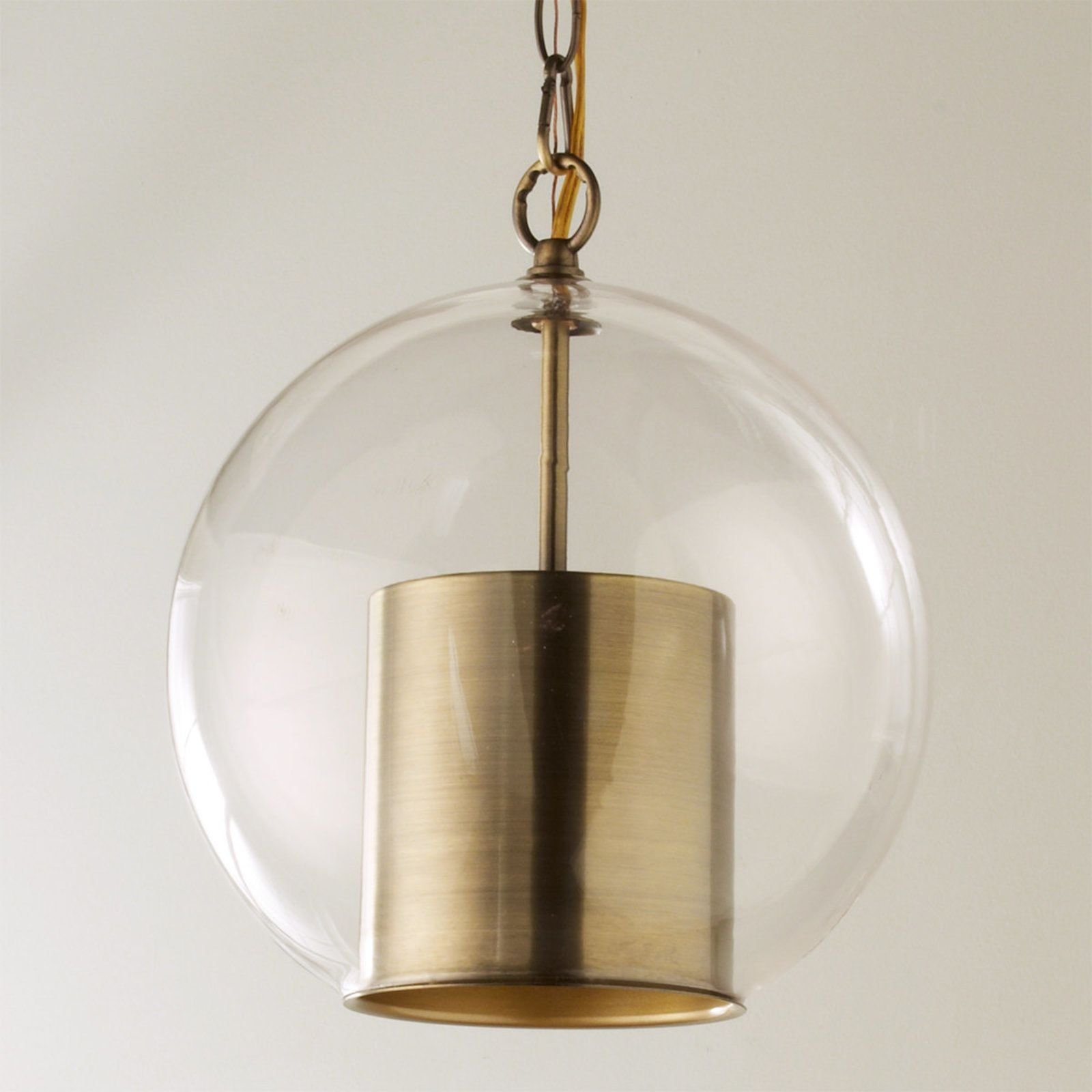 Cap and Globe Pendant | Globe pendant, Antique brass and Lights
