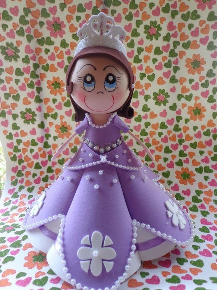 Moldes Para Todo Fofucha Princesa Sofía Fofuchas Princesas Princesa Sofía Fofucha