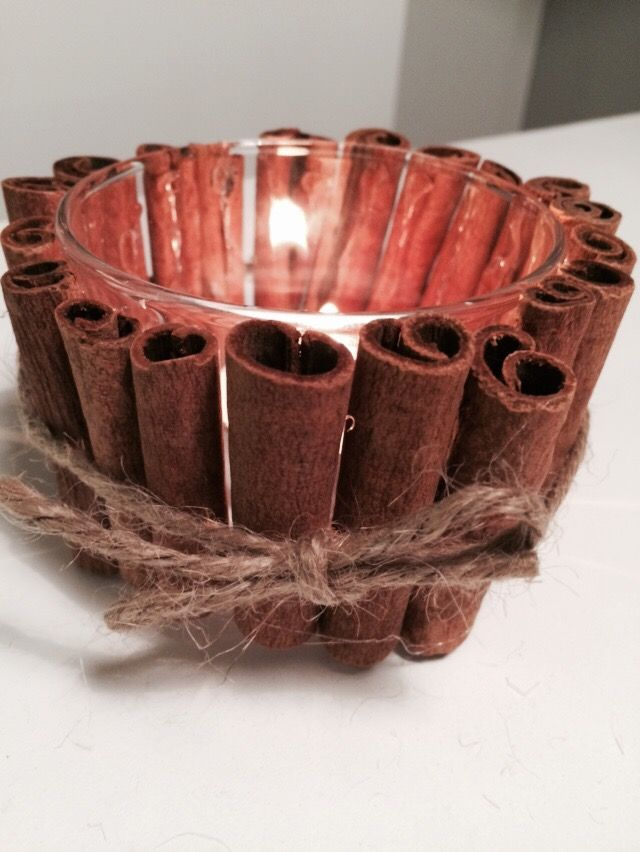 DIY: Tea Light Holder MED whole cinnamon