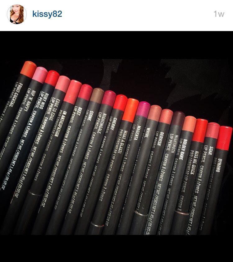 My MAC lip pencil collection♥️ #FruitCocktail #hipNhappy #RubyWoo