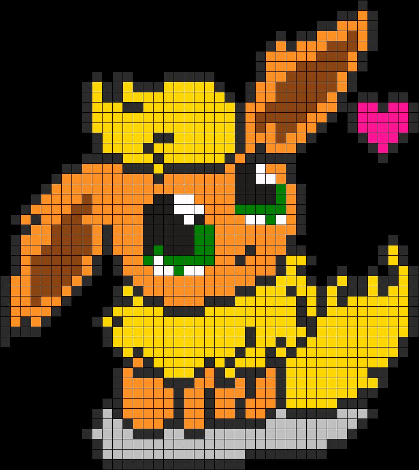 Flaren Chibi Kandi Pattern Pixel Art Pokemon Anime Pixel Art Pixel Art