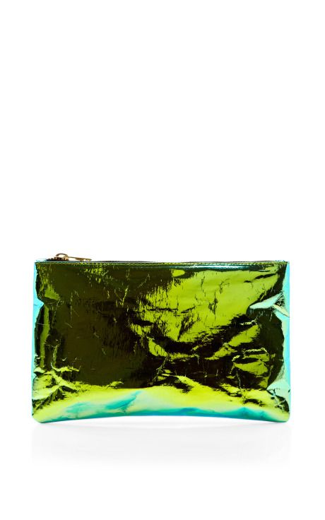 Shop Green Small Glossy Purse by Zilla Now Available on Moda Operandi