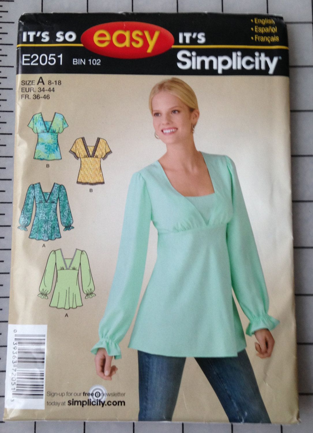 Simplicity Easy Sewing Pattern E2051 womens' / by hootcouture