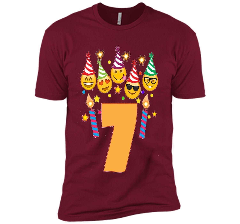 Emoji Birthday Shirt For 7 Seven Year Old Girl Boy Toddler T