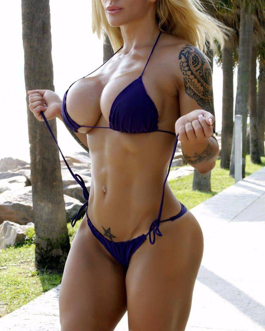 You will Naked girl with ripped bikini