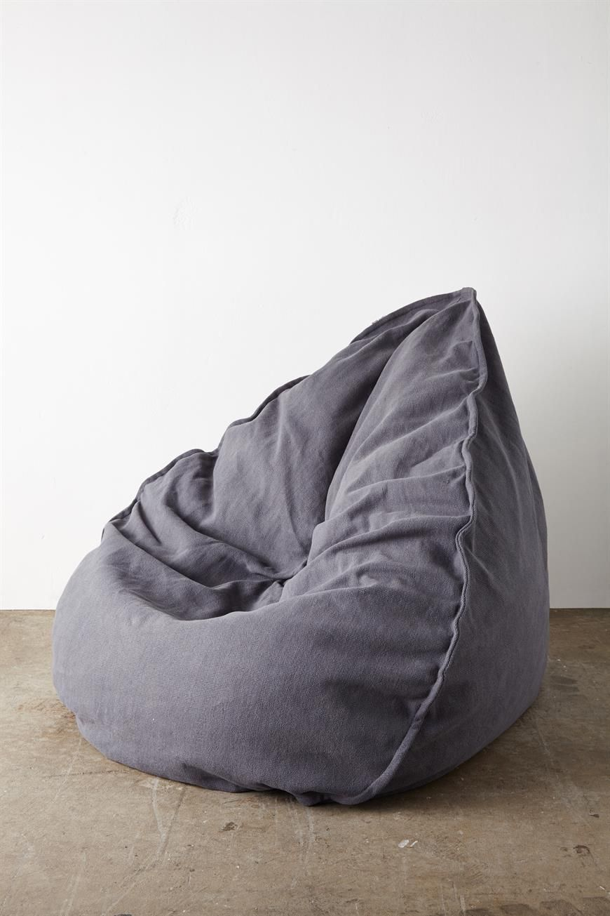 This Beautifully Designed Textured Bean Bag Cover Merges Style With Functionality Made From 100 Per Cent Cotton And Featuring A Contrasting Canvas Handle