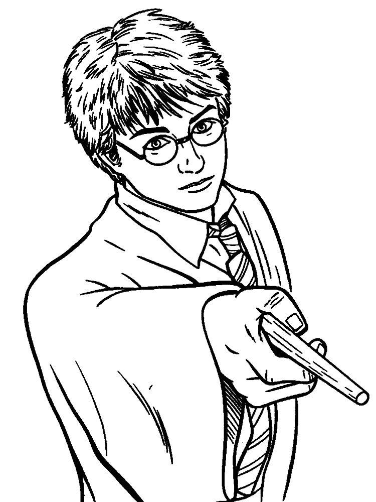 Dibujos para colorear   Harry Potter, para un desarrollo infantil