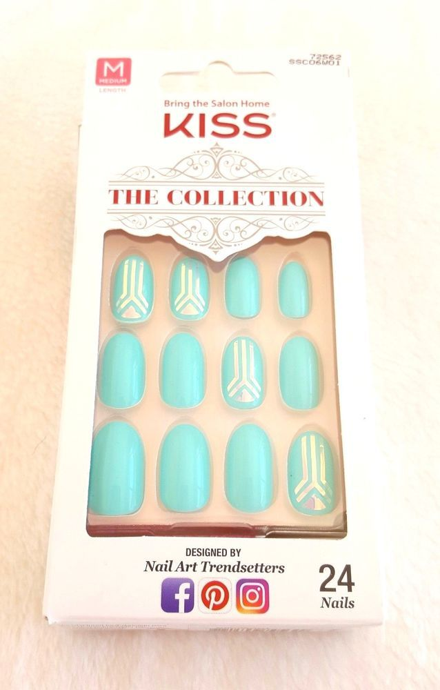KISS 24 Glue-On Nails The Collection MEDIUM #72562   Kiss, eBay and ...