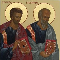 Pyh�t Evankelistat Luukas ja Johannes Kuninkaanovessa