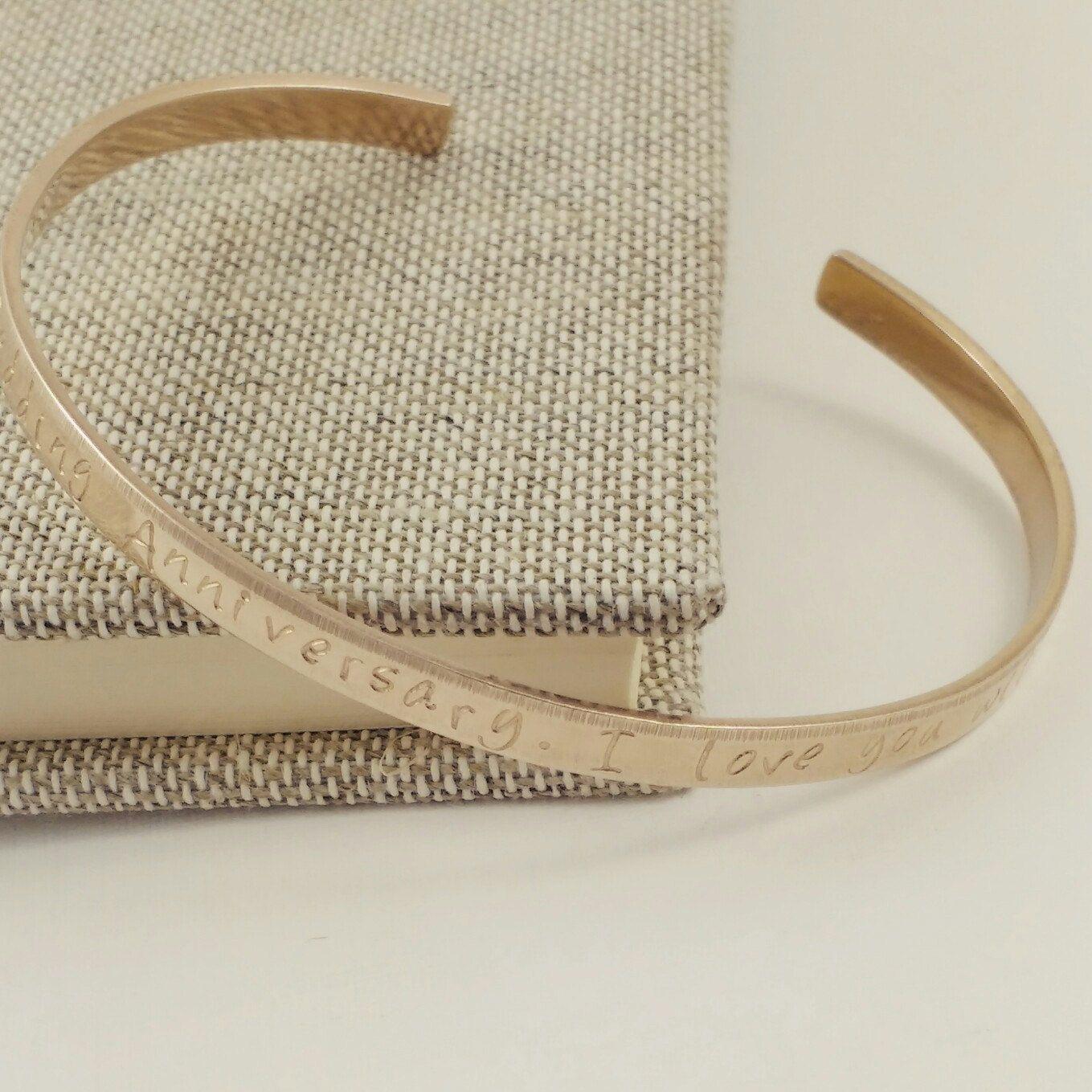 Bronze bracelet for women, 8th anniversary gift, Bronze