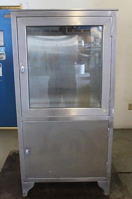 Vintage Stainless Steel Medical Cabinet Ebay