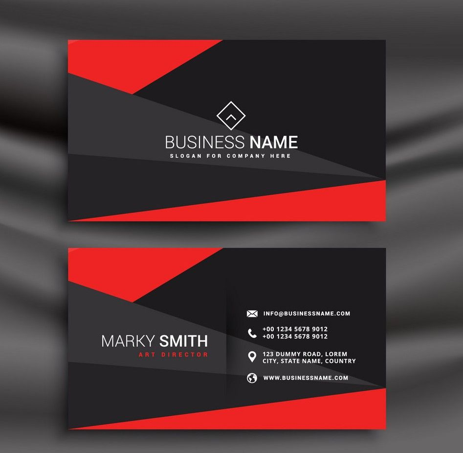 Free Printable Business Card Template Set Your Plan With Regard To Free Editable Prin Red Business Cards Visiting Card Templates Free Business Card Templates