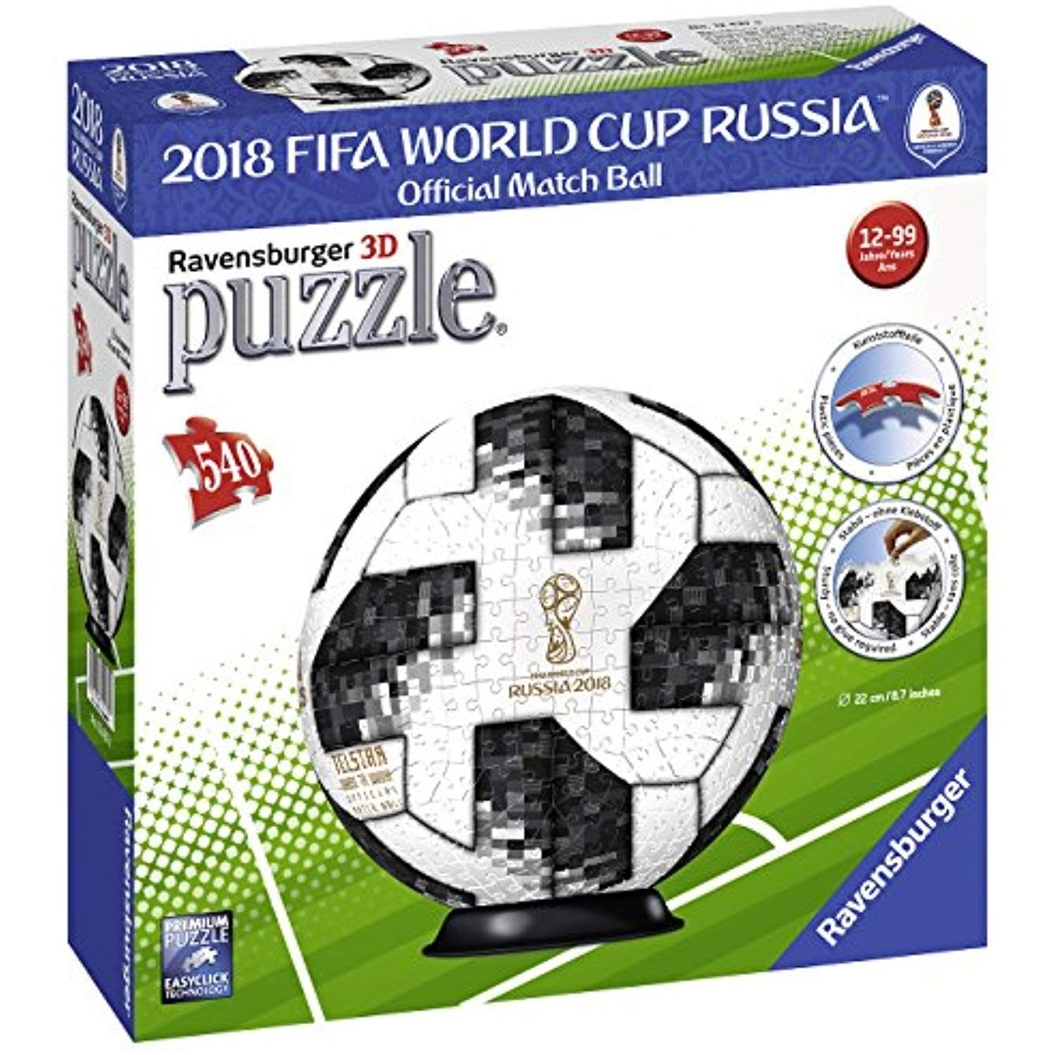 Ravensburger Adidas 2018 World Cup Puzzle Ball 3D (540