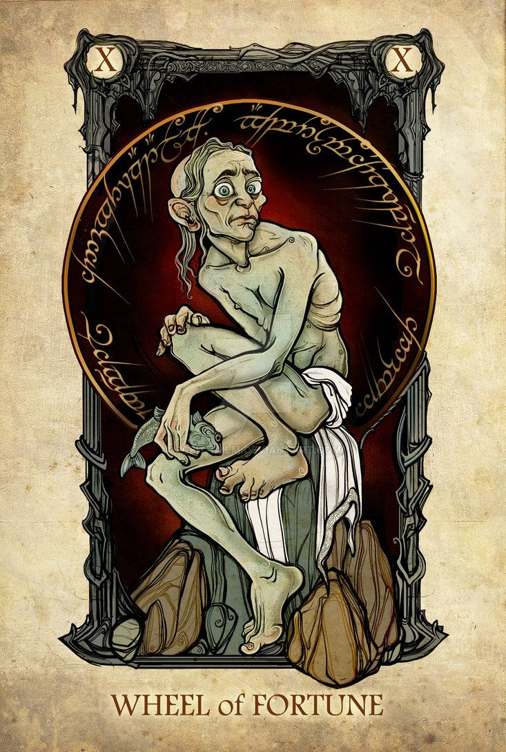 """Tarot: Wheel of Fortune"" by SceithAilm on deviantART.com."
