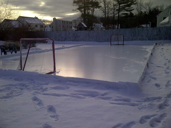 how to build your dream backyard hockey rink