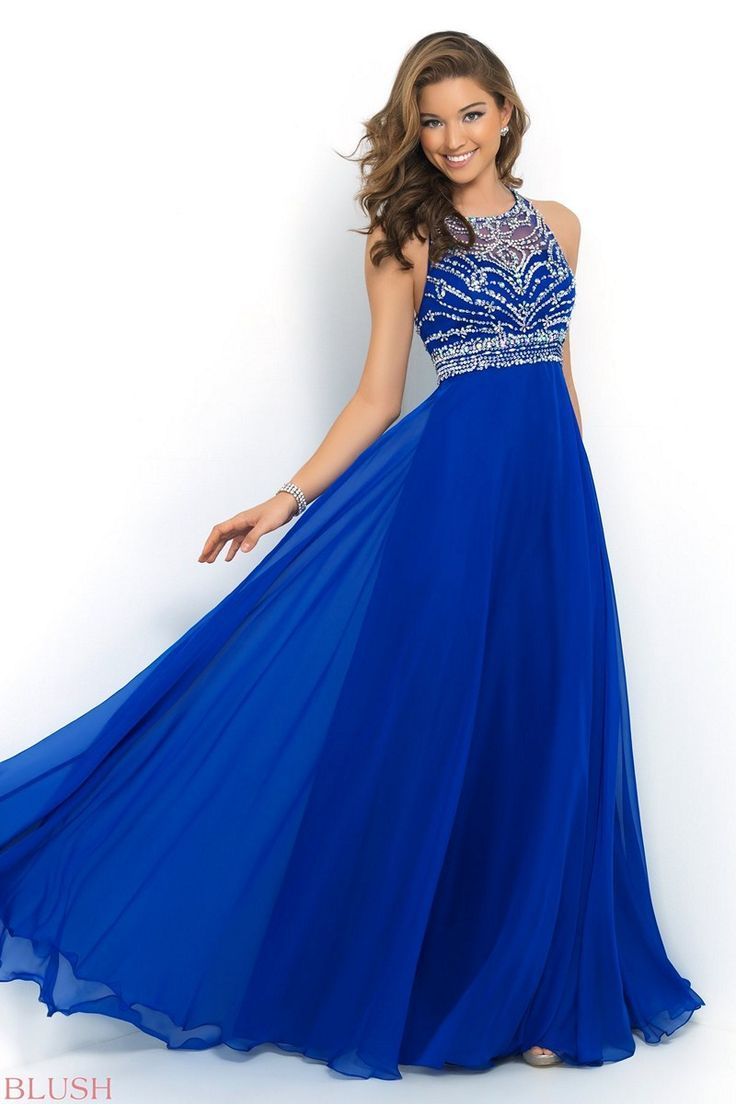 The modest aline silhouette of blush prom dress makes a