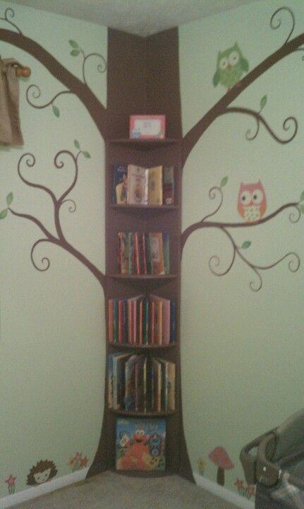 Tree Bookshelf I Made For My Grandchildren Room