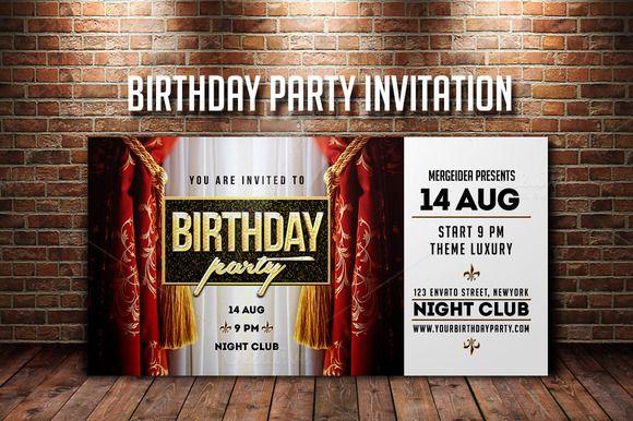 Birthday Party Invitation  @creativework247