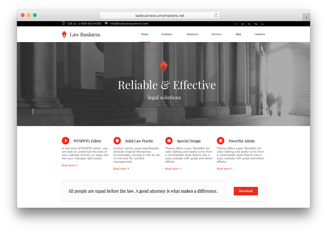 Law Office Wordpress Theme For Lawyers Law Firms Legal Advisors Advocate Wordpress Law Office Legal Firm