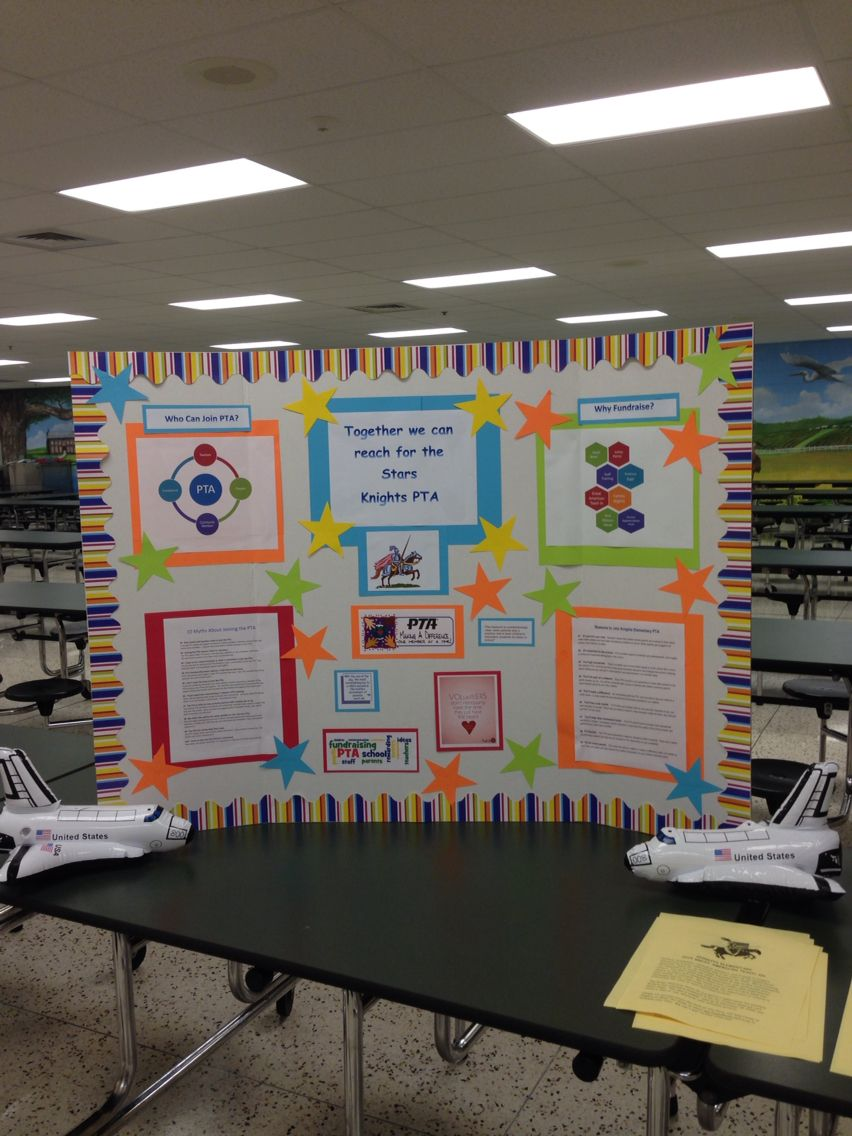PTA table at open house | School | Pta meeting